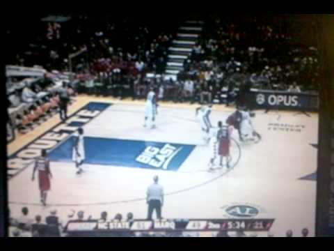 Tracy Smith NC State DUNKS over Marquette player
