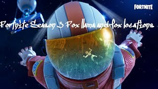 Fortnite Season 3 Fox Llama And Crab Locations Battle Pass Challenge! (Voice is quite)