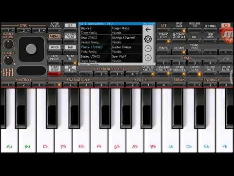 Aankh hai bhari bhari on Mobile Piano ORG2018