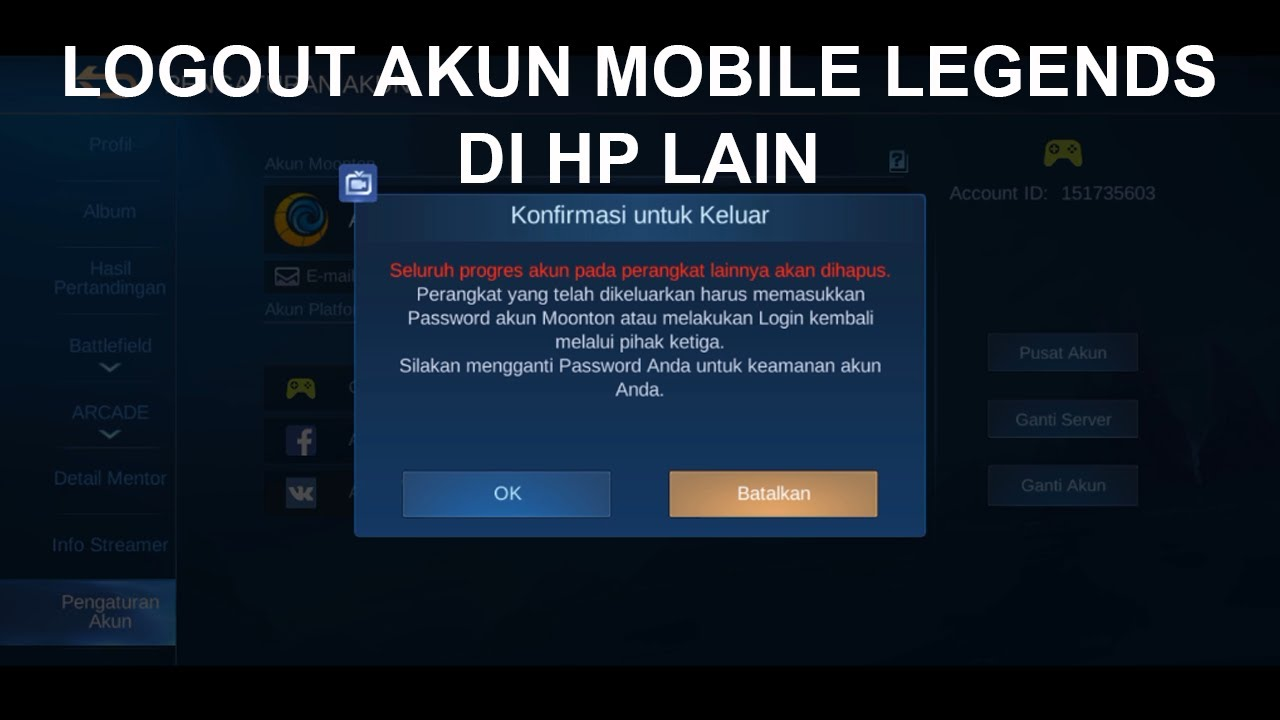 How To Log Out Mobile Legends Ml Account Esportsku