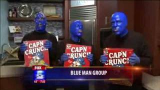 Blue Man Group @ FOX5 with Breakfast Symphony