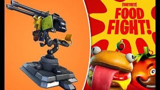 NEW FORTNITE 6.30 UPDATE! NEW MOUNTED TURRET & FOOD FIGHT LTM GAMEMODE! Mounted Turret Gameplay