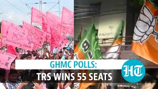 GHMC polls: TRS wins 55 seats, BJP emerges 2nd largest party, secures 48 seats