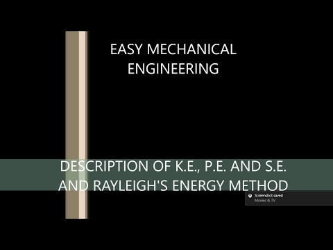 Description of K.E., P.E. and S.E. and Rayleigh's energy method
