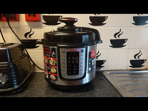TEFAL CY505E40 MULTI COOK PRESSURE COOKER COOKS A LOVELY POTATO MEAL VIDEO 1