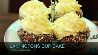 LAMINGTONS CUPCAKE *COOK WITH FAIZA*