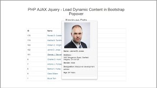 PHP AJAX Jquery - Load Dynamic Content in Bootstrap Popover Mp3