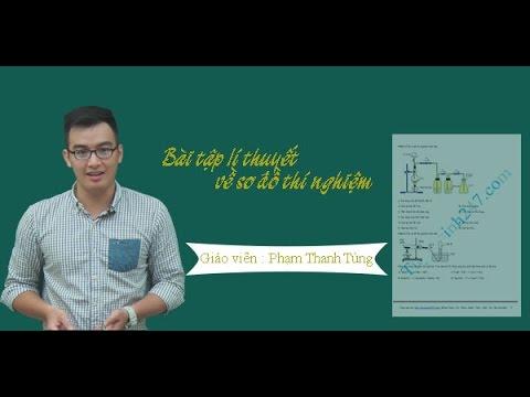 Bài tập lý thuyết sơ đồ thí nghiệm – Hóa học  Thầy Phạm Thanh Tùng