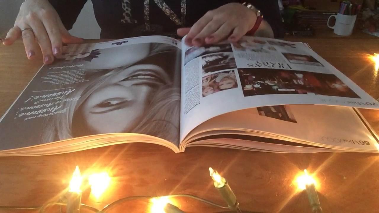 ASMR slow page turning through Vogue magazine