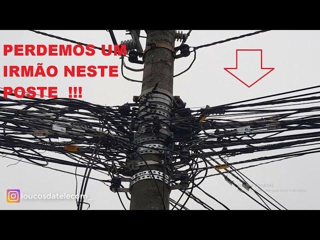 COMO ESTÃO OS POSTES EM ALPHAVILLE - SP  - LOUCOS DA TELECOM