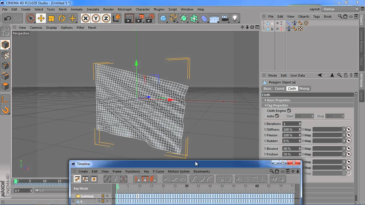 Cinema 4D: Looping Cloth Animation