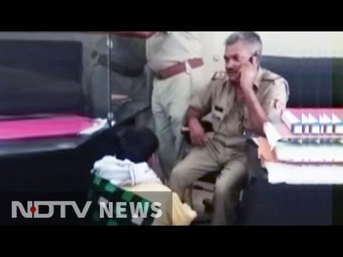 UP officer, caught on camera getting massage in police station, suspended