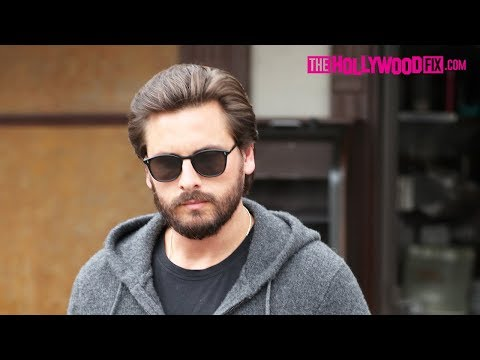 Scott Disick Dodges Questions About Kim & Kanye's New Baby Name 'Chicago West' In Beverly Hills