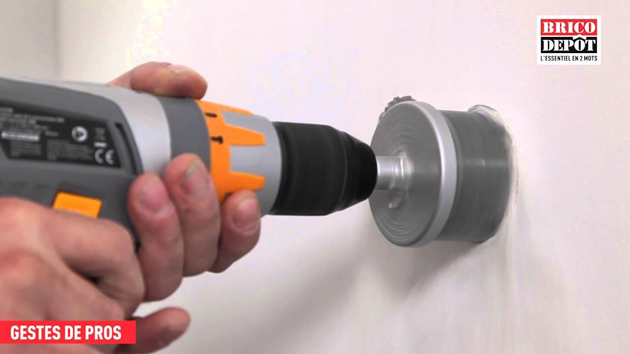 Diametre Scie Cloche Prise De Courant comment poser une boîtier double dans un cloison sèche ?