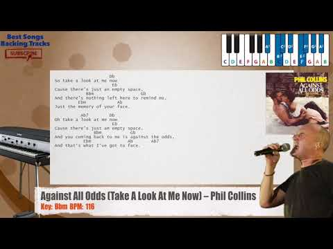 Against All Odds (Take A Look At Me Now) - Phil Collins Piano Backing Track with chords and lyrics