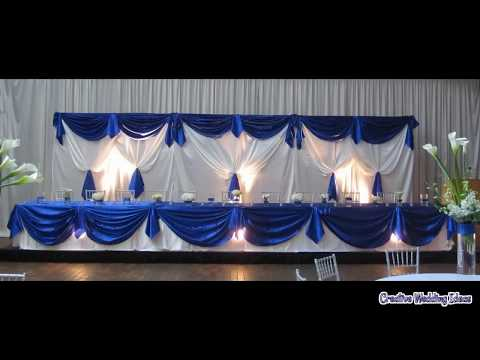 Wedding Decoration Royal Blue