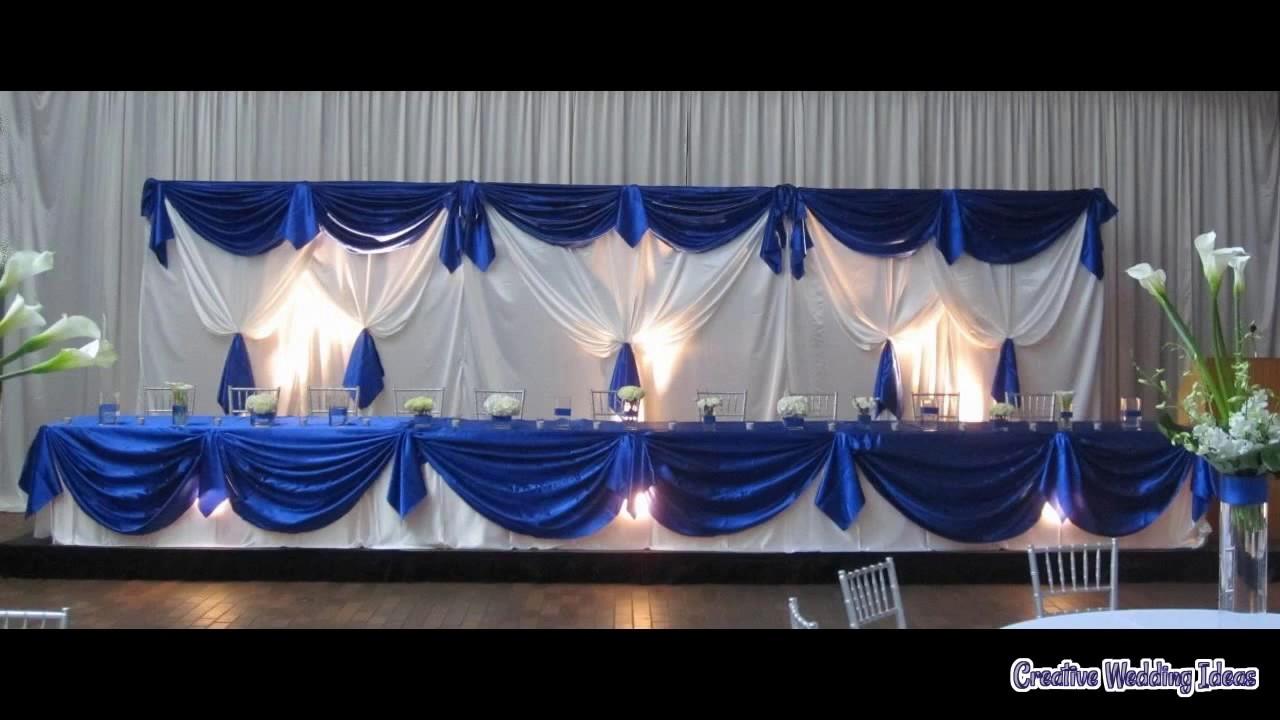 Wedding Decoration Royal Blue