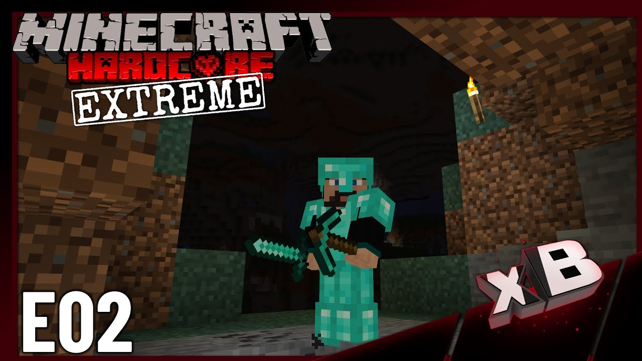 Extreme Hc Cave World Minecraft Diamonds E02 Youtube