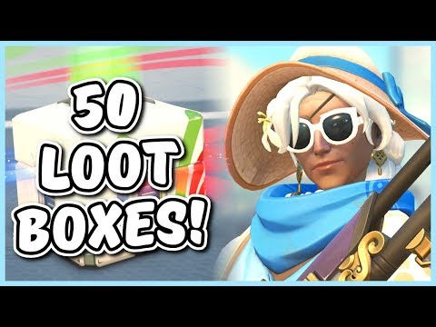 Overwatch - OPENING 50 SUMMER GAMES 2018 LOOT BOXES