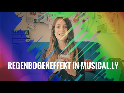 Regenbogeneffekt in Musical.ly | Die Emmy