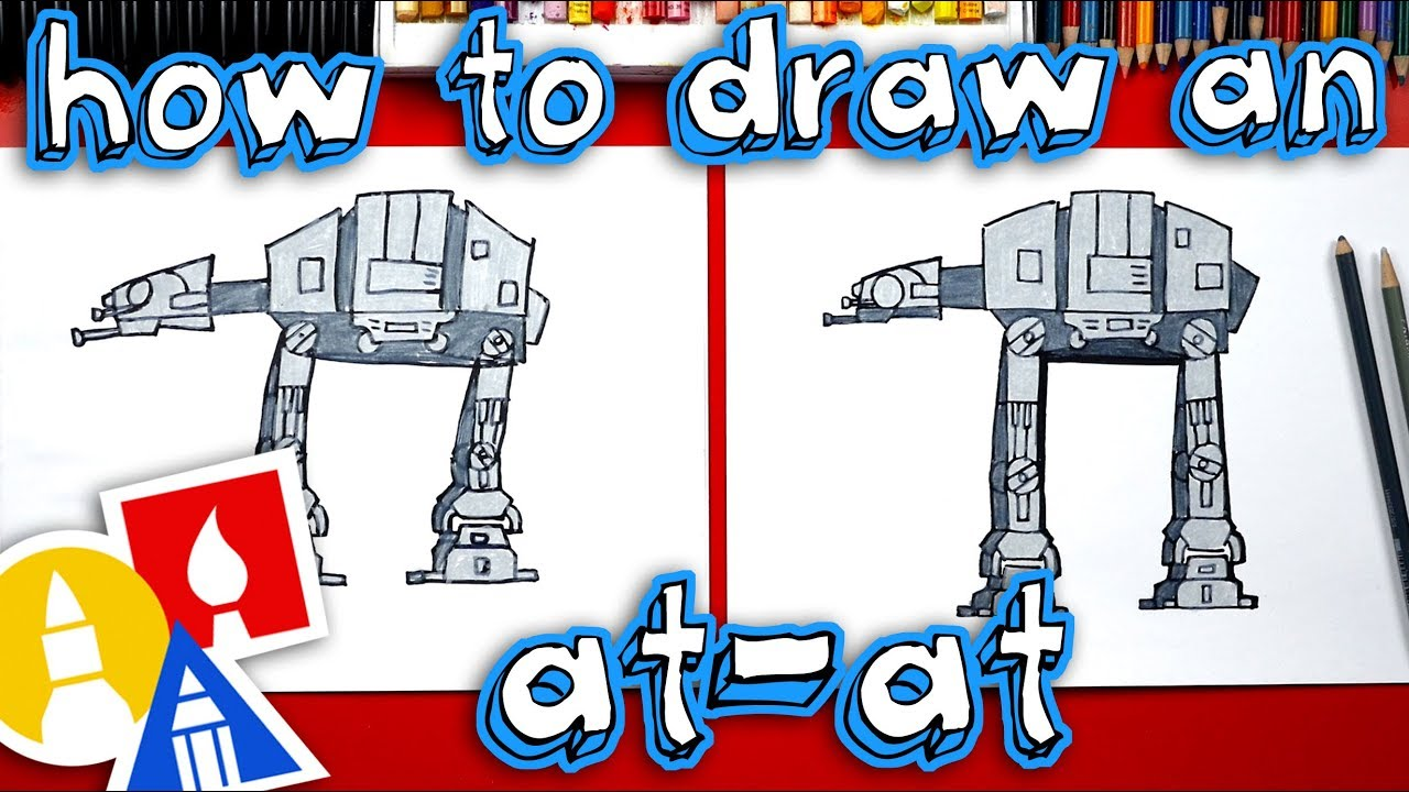 how to draw an atat walker from star wars youtube