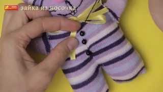 Іграшка з шкарпетки «Зайка Вухань»   Лайфхак як створити іграшку