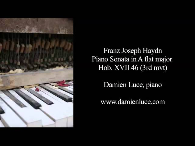 Haydn : Piano Sonata in A flat major (3rd mvt) - Damien Luce, piano