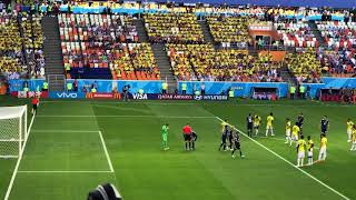 現地映像 日本先制の瞬間 香川真司選手のPK ロシアワールドカップ 2018.06.19日本対コロンビア ロシアワールドカップ