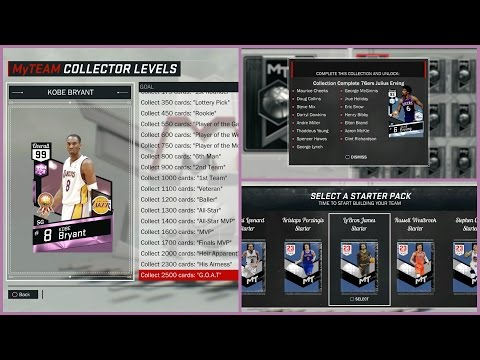 NBA 2k17 MyTEAM - Starter Pack Opening + Rewards! 99 OVR Pink Diamond Kobe Bryant + 98 OVR Wilt!