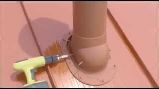 Установка вентиляционной трубы с вентилятором VILPE на классической кровле