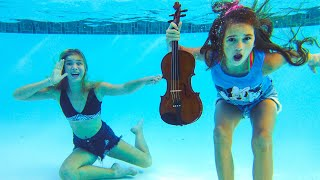 Angry Barvina throws Violin of Karolina Protsenko in the pool