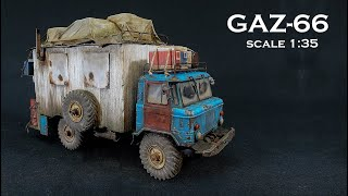 GAZ 66 Light Truck scale 1:35 für mein Endzeit Diorama for my end time diorama