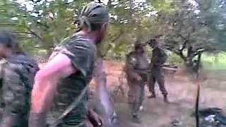 Georgia-Russian war, year 2008. Georgian troops ready for battle.