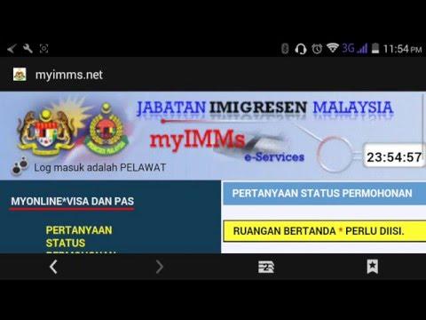 check online status application work permit