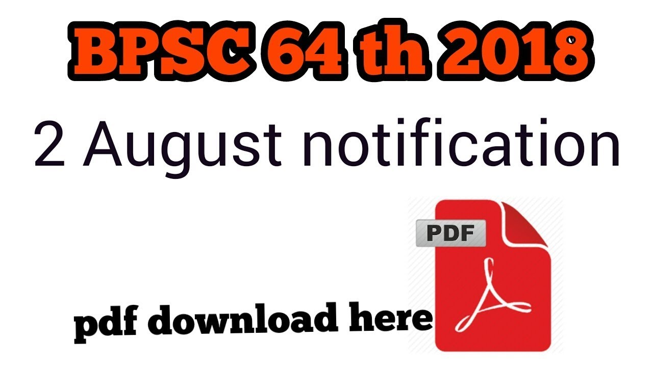 # edu mall 64 th BPSC notification 2018 || BPSC 2028 FORM FILL UP
