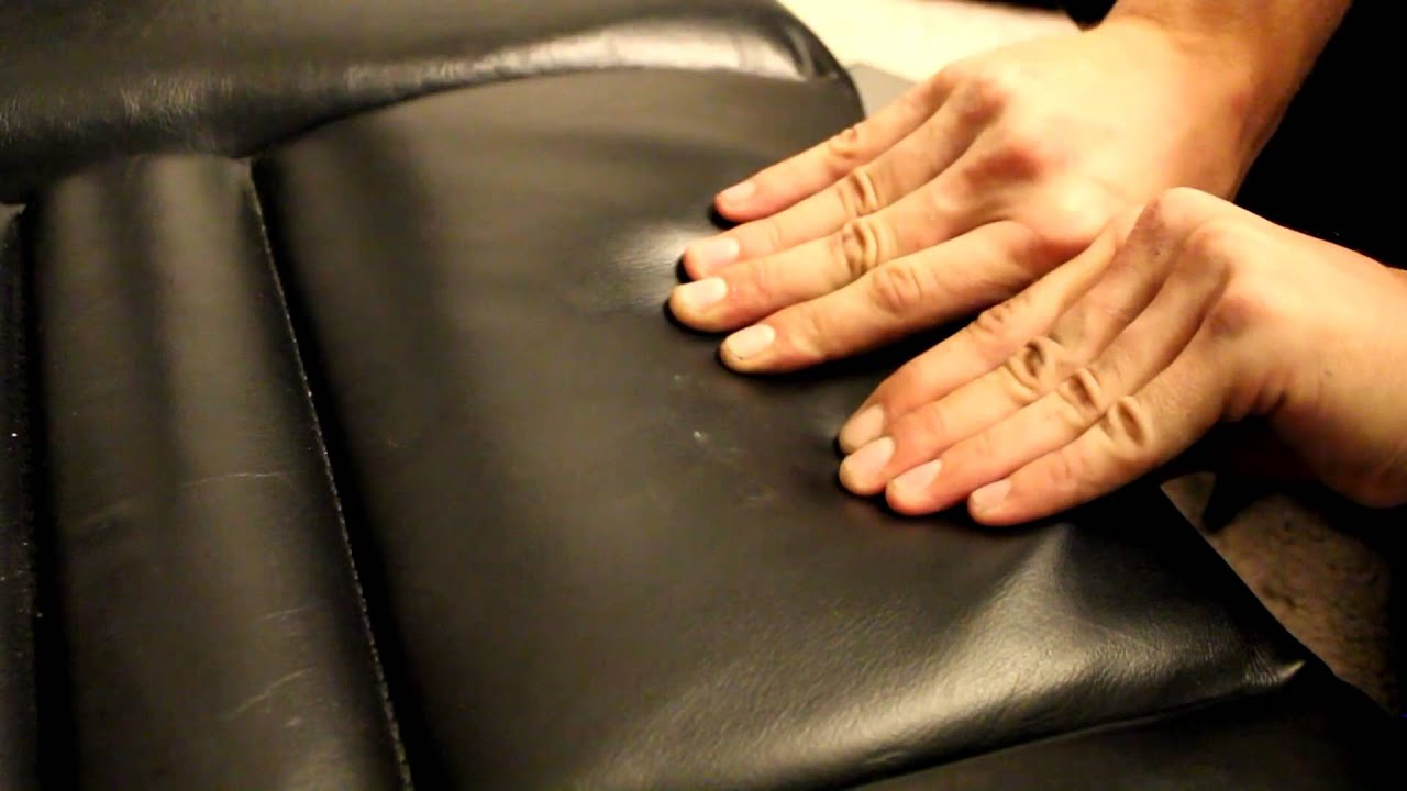 How to fix indentation in leather seat-EASY - YouTube