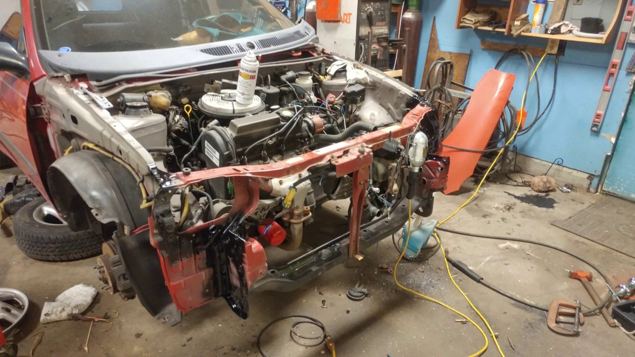Radiator Support Replacement Front End Rebuild On Metro