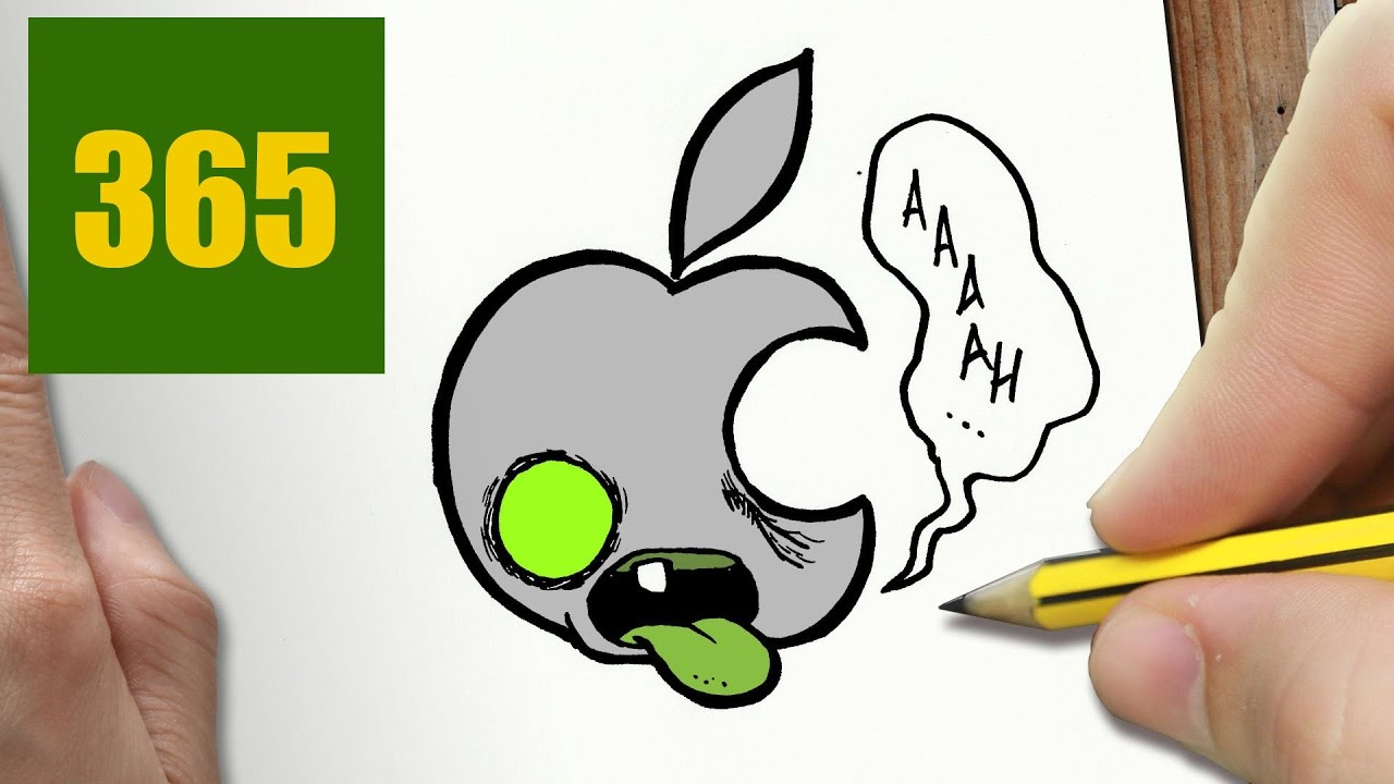 Comment Dessiner Logo Apple Kawaii étape Par étape Dessins Kawaii Facile
