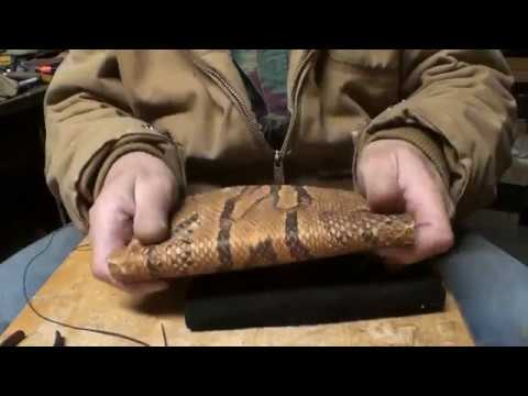 How To, DIY Rock Python  Ladies Wallet, Part1