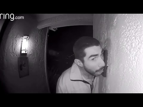 Otis - Guy Caught On Camera Licking A Doorbell For 3 Straight Hours