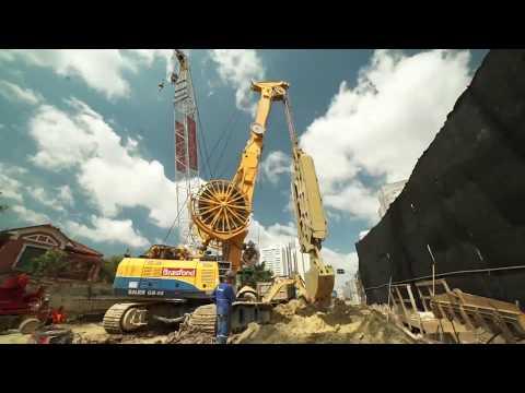 SAO PAULO SUBWAY - VILA SONIA - LINE 4 - DIAPHRAGM WALL CONSTRUCTION