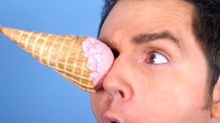 ICE CREAM IN EYE!