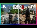 Red Dead Redemption 2 Console VS PC Graphics Comparison - PS4 Pro VS Xbox One X VS PC 4k 60 FPS!