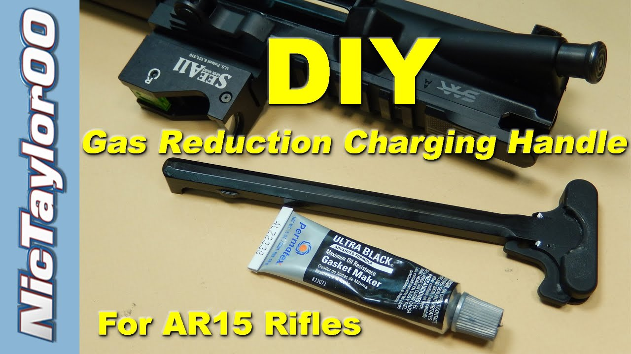 Simple Diy Gas Buster Charging Handle For The Ar15 Youtube