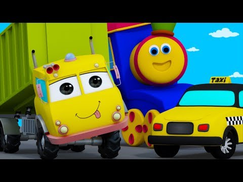 Learn Transport Vehicles  Learning Street With Bob  Cartoon s And Nursery Rhymes  Kids Tv