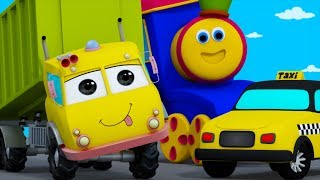 Learn Transport Vehicles | Learning Street With Bob | Cartoon Videos And Nursery Rhymes By Kids Tv