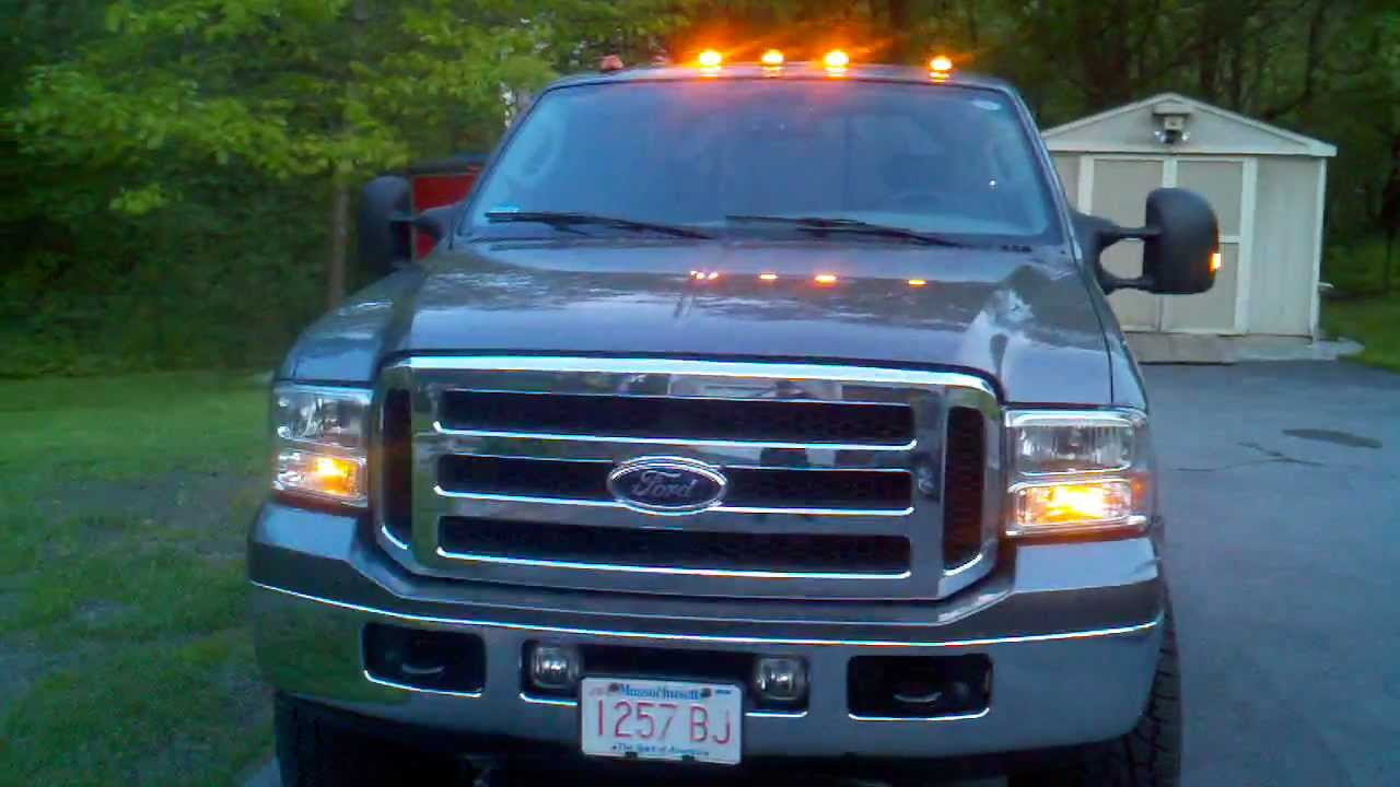 F350 Super Duty Atomic Led Roof Lights And Mirror Mod