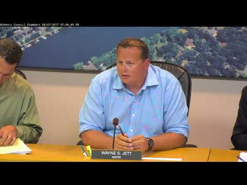 City of McHenry City Council Meeting August 7, 2017