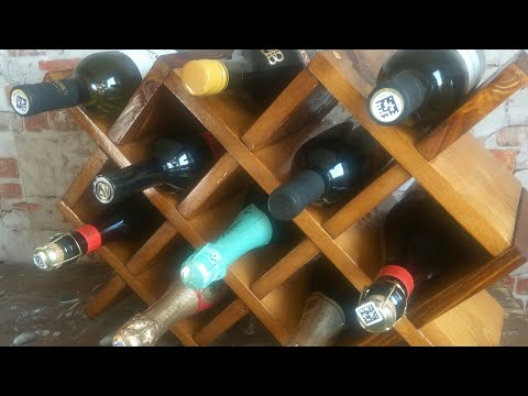 Мини бар. Полка для вина . Minibar. DIY. Хранение вина