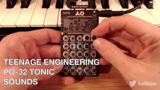 Teenage Engineering PO-32 Tonic: Sounds